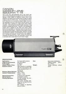 Canon 5200mm Mirror lens
