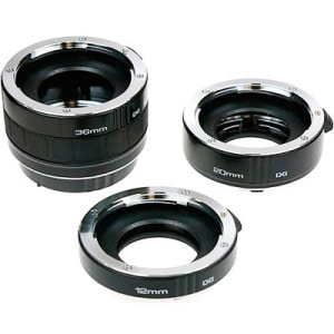 Extension tubes for macro photography