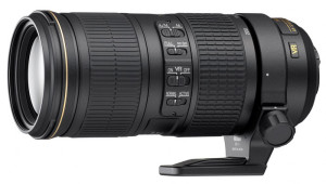 Nikkor 70-200mm f4G with a tripod ring