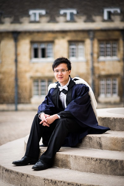 Cambridge University graduation portrait photography