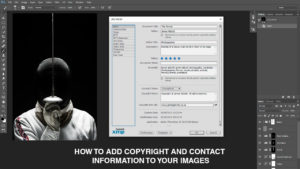 How to add copyright and contact information to your images