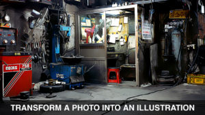 Transform a photo into an illustration