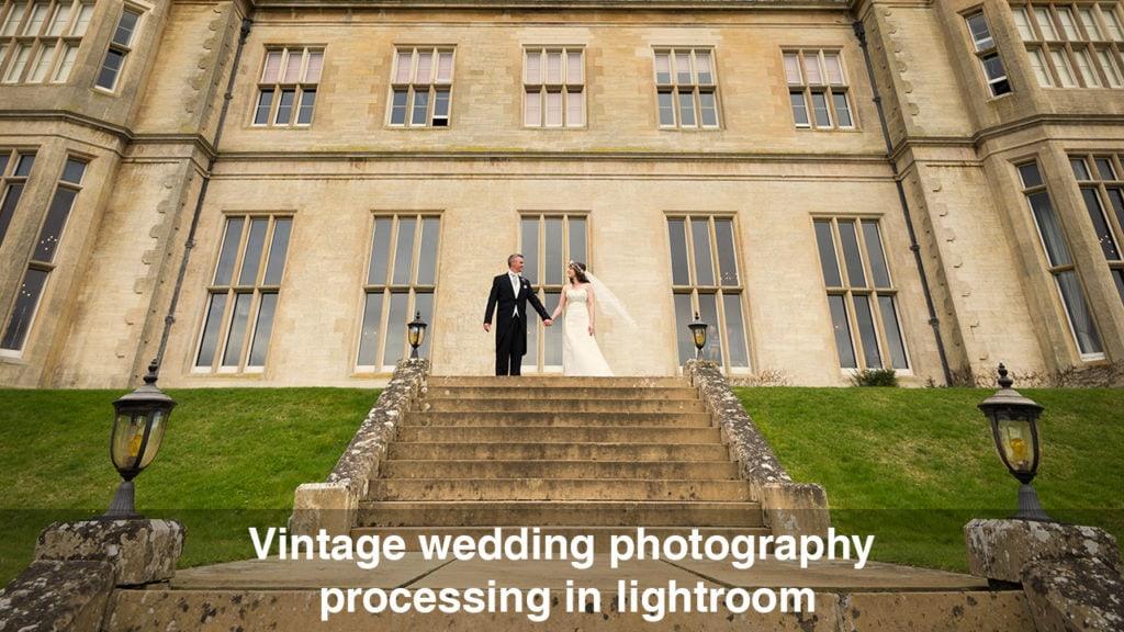 Vintage wedding photography processing in Lightroom