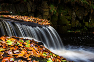 Focus stacked waterfall at Padley Gorge
