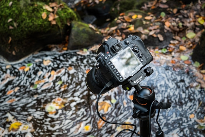 Padley Gorge Autumn Swirl behind the scenes