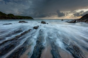 Sunset at Hope Cove in South Devon