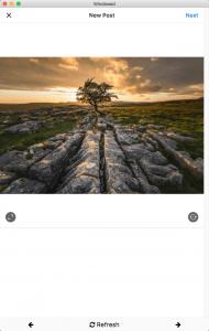 Uploading to Instagram using Windowed software