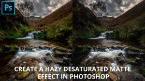 How to create a desaturated matte effect in Photoshop