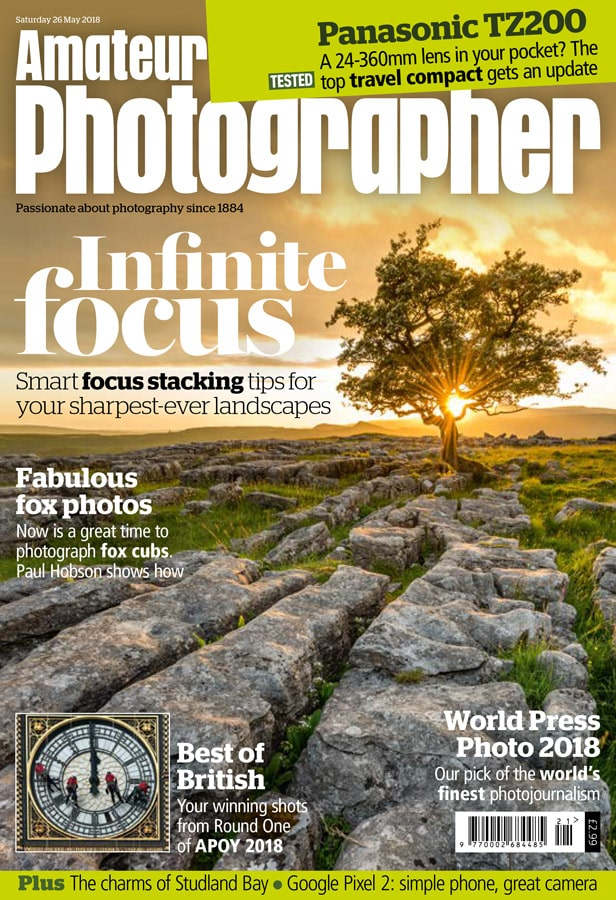 Amateur Photographer magazine cover 26 may 2018
