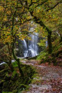 Long exposure of Llanberis Falls in Llanberis, Snowdonis in Autumn.