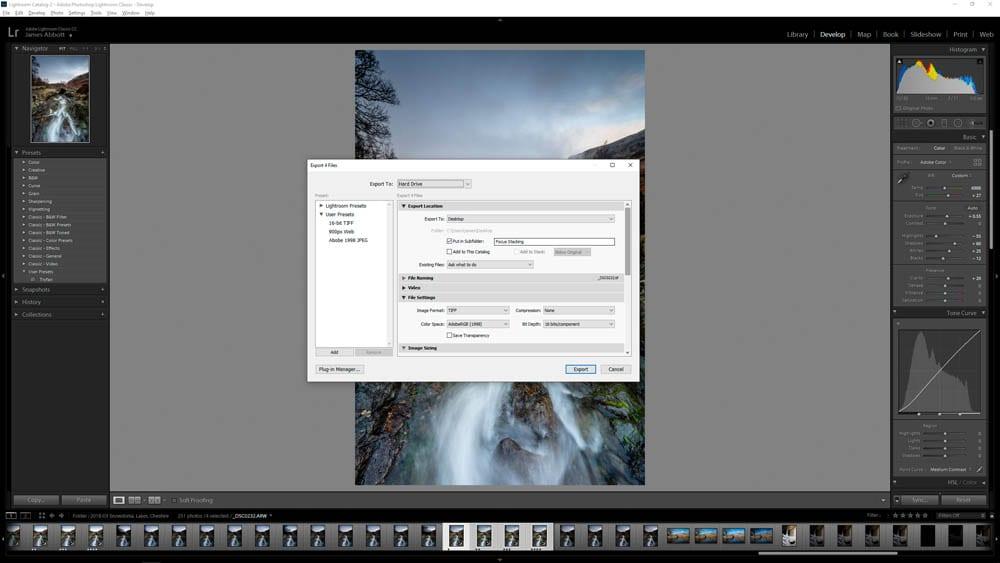 Focus stacking editing step 2
