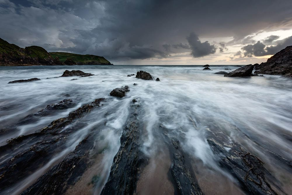 Moody sunset at Hope Cover in South Devon