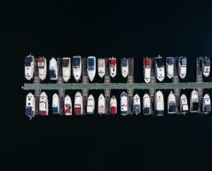 Boatyard jetty shot from above with a DJI Mavic Air