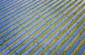 Solar farm from the air shot on a DJI Mavic 2 Pro