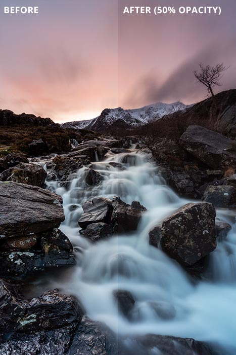 Orton Effect Photoshop Tutorial Before & After