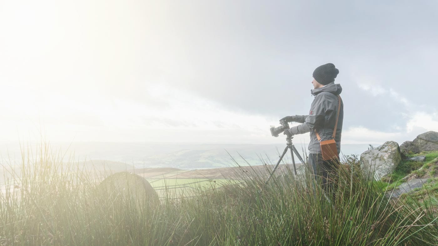 James Abbot Photography shooting at Stanage Edge in the Peak District