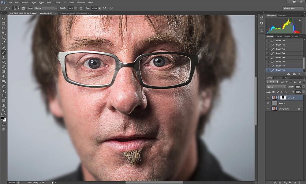 Wet plate collodion effect in Photoshop tutorial step 3