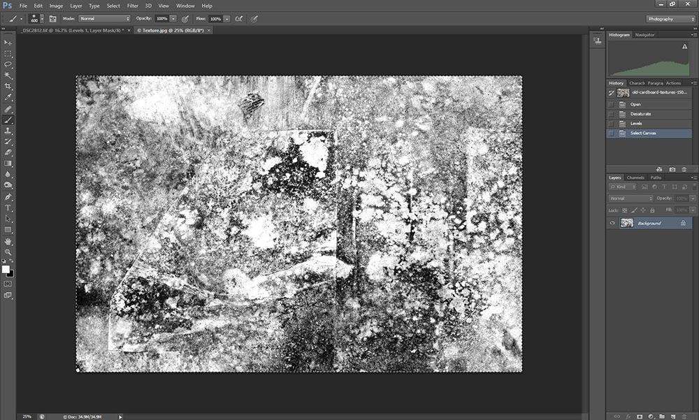 Wet plate collodion effect in Photoshop tutorial step 6