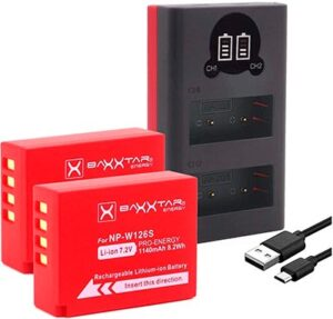 Baxter Pro NP W126s batteries and Mini 1855 Dual Charger