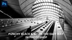 Easy black & white in Photoshop using the Gradient Map