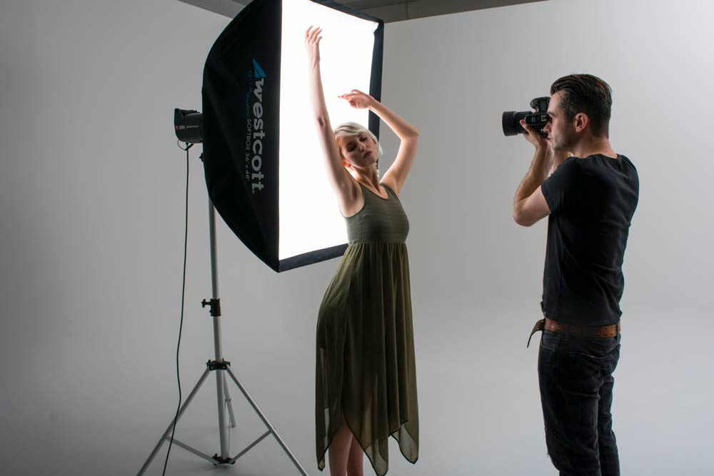 How to shoot silhouette portraits main behind the scenes